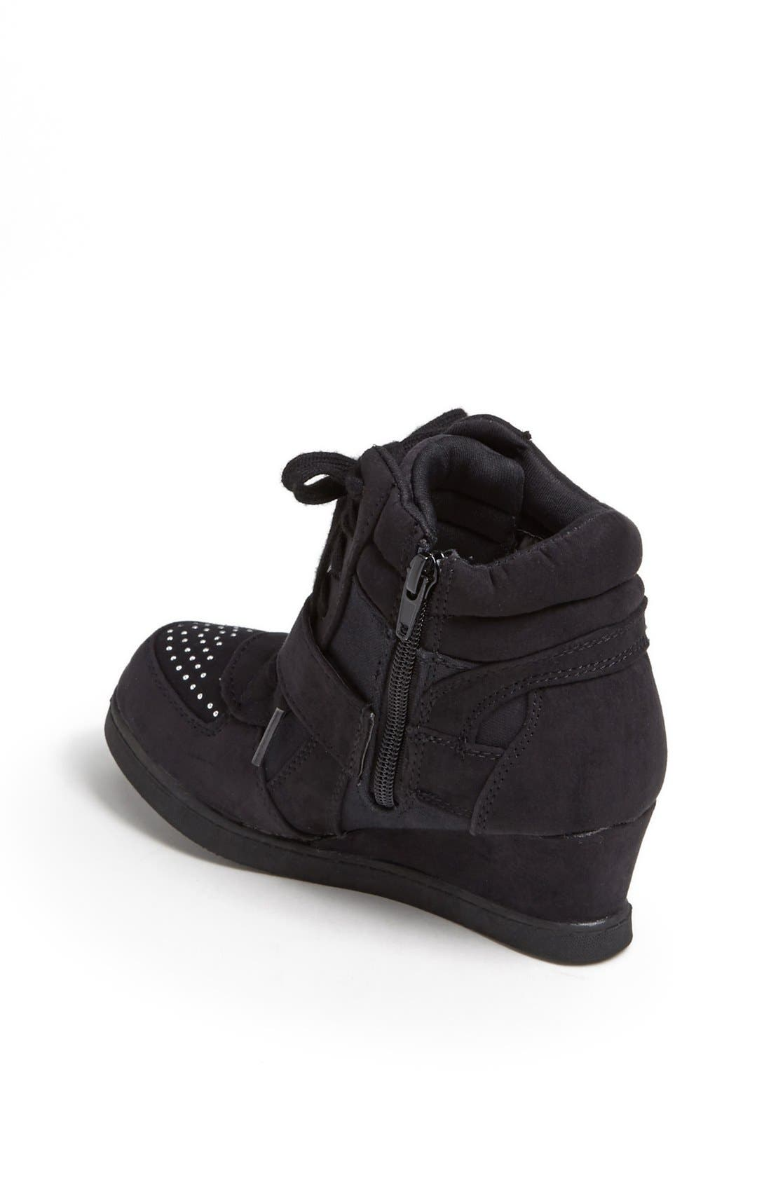 Alternate Image 2  - Steve Madden 'Glamm' Sneaker Wedge (Little Kid & Big Kid)