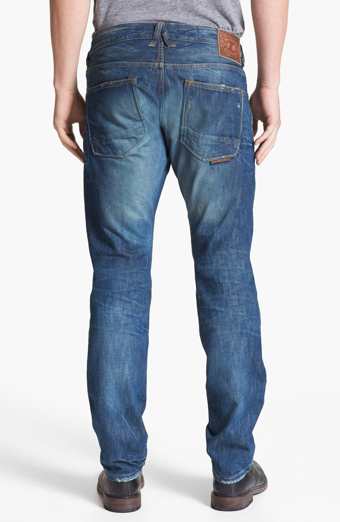 Alternate Image 1 Selected - Natural Selection Denim Narrow Slim Straight Leg Jeans (Saddle)