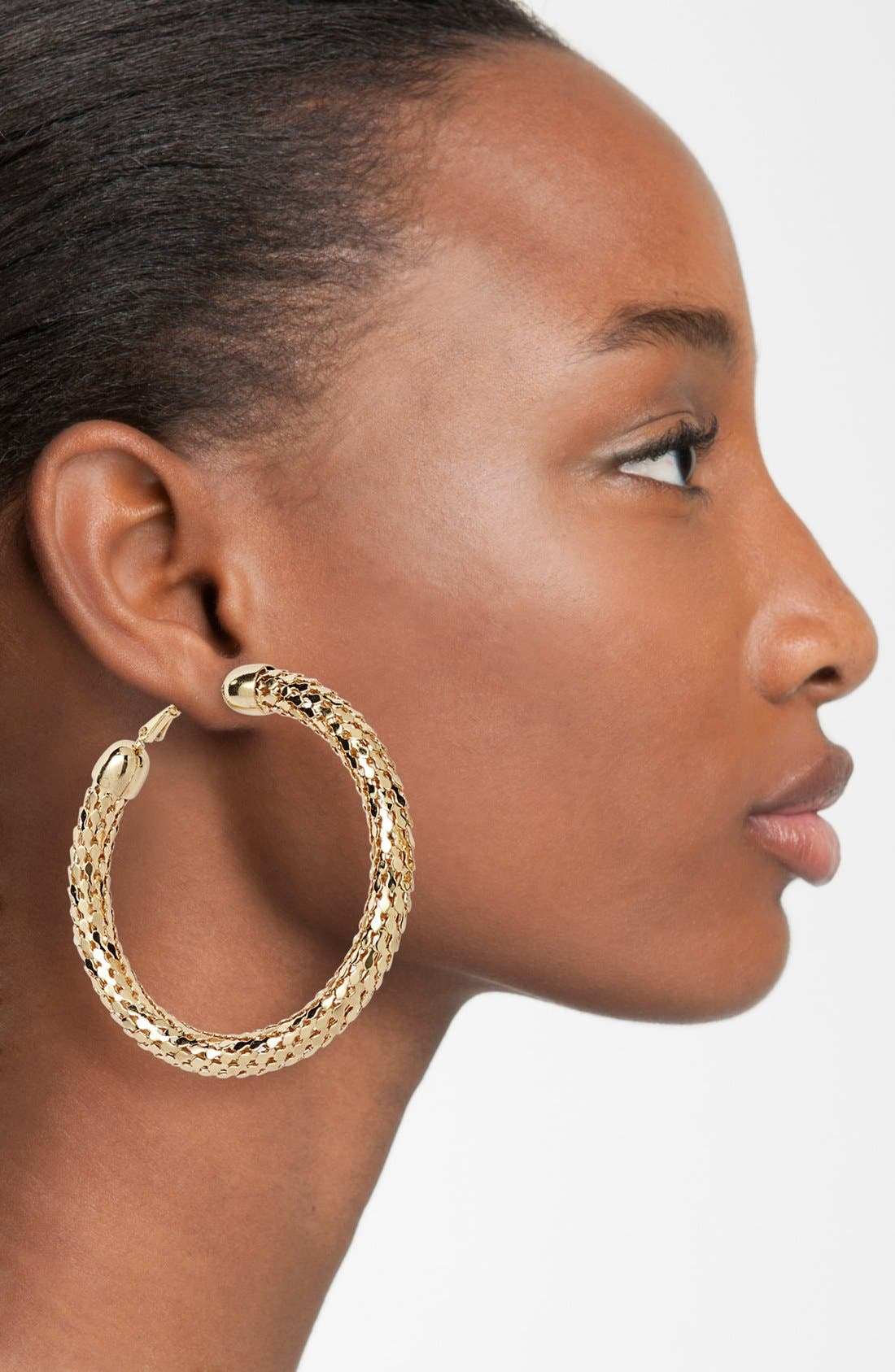 Alternate Image 2  - Sequin Large Disco Hoop Earrings