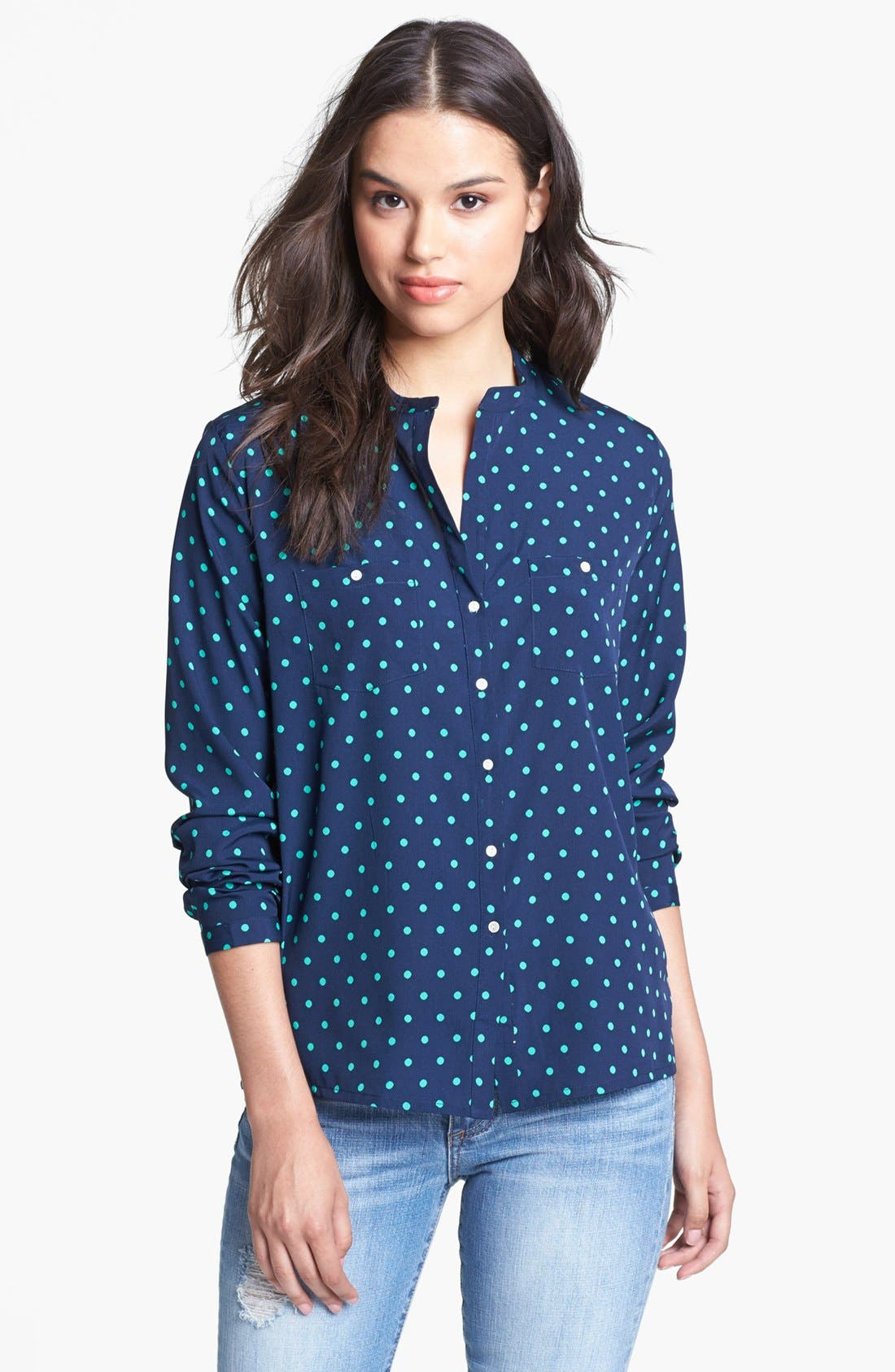 Main Image - KUT from the Kloth 'Sabina' Polka Dot Shirt