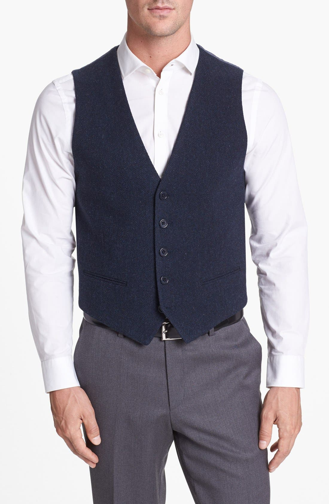 Alternate Image 1 Selected - Wallin & Bros. Herringbone Vest