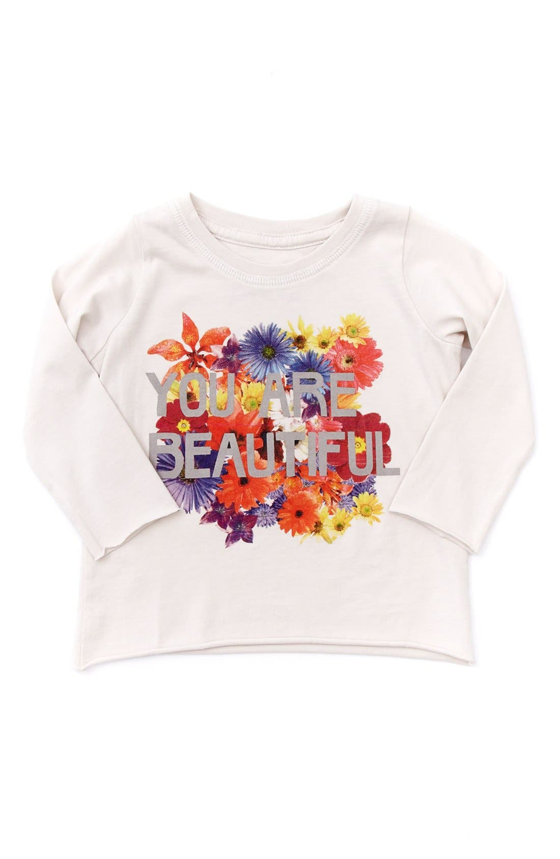 Main Image - Peek 'You Are Beautiful' Tee (Baby Girls)