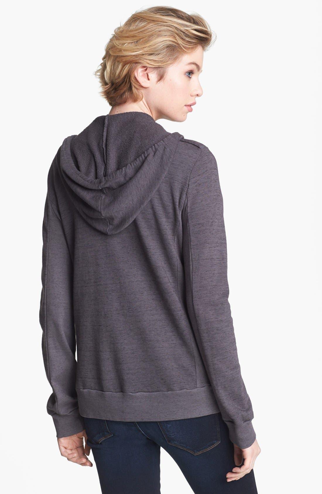 Alternate Image 2  - Splendid Space Dye Zip Hoodie