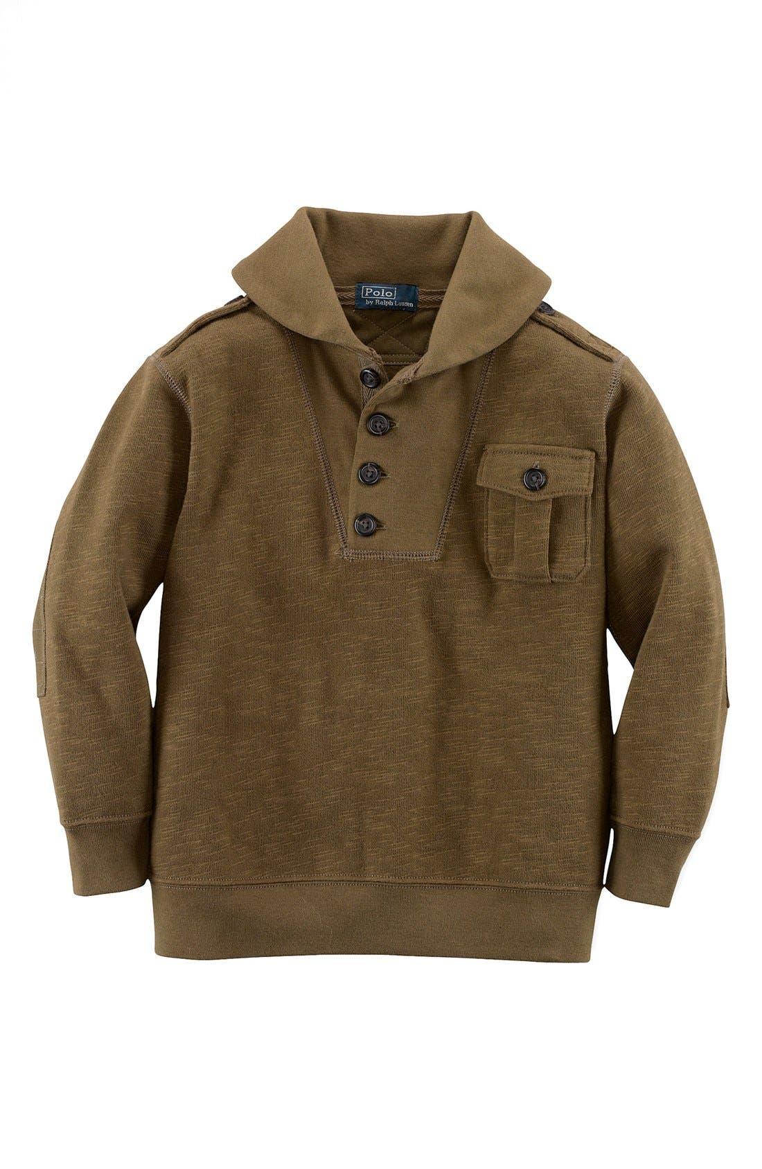 Alternate Image 1 Selected - Ralph Lauren Shawl Collar Pullover (Toddler Boys)