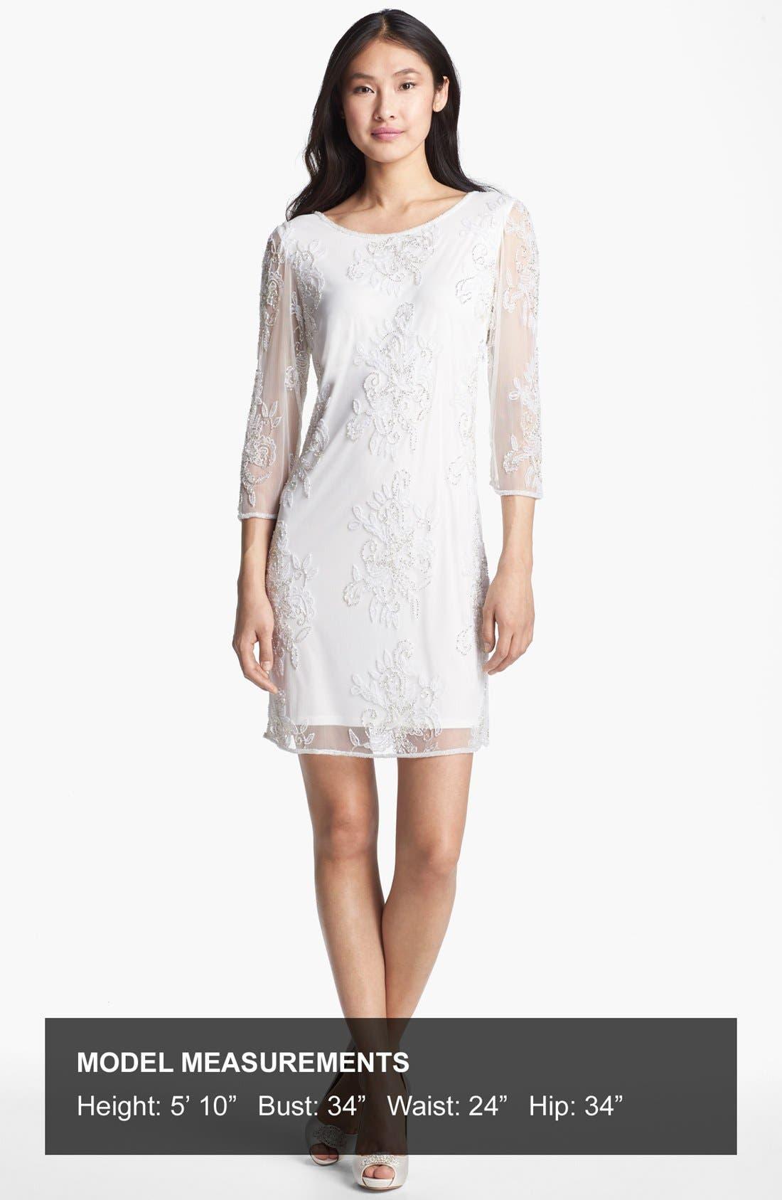 Alternate Image 4  - Pisarro Nights Embellished Sheer Sleeve Tulle Dress