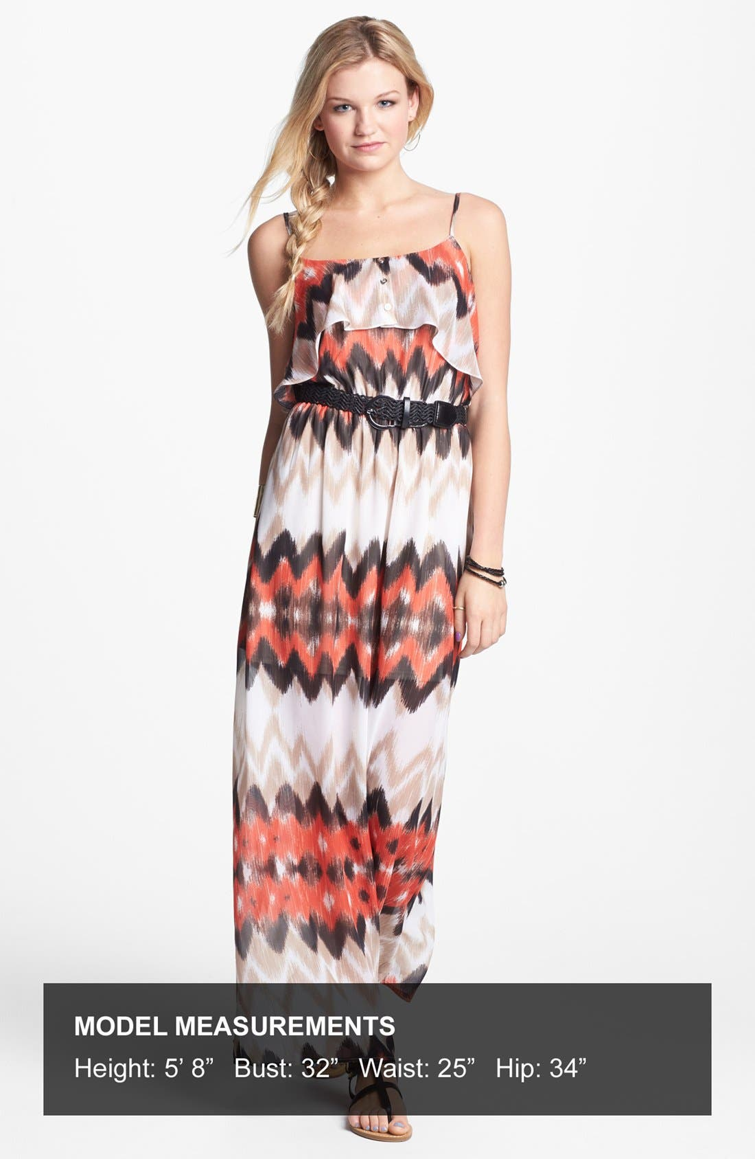 Alternate Image 4  - As U Wish Ruffle Maxi Dress (Juniors) (Online Only)