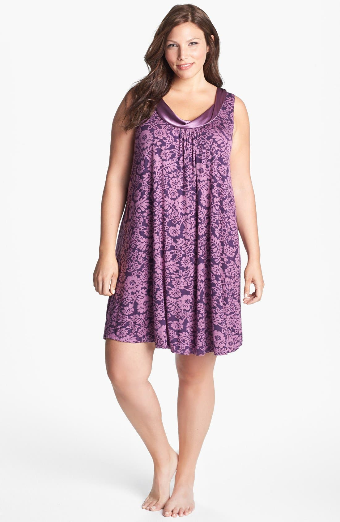 Main Image - Midnight by Carole Hochman 'Forever & Always' Chemise (Plus Size) (Online Only)