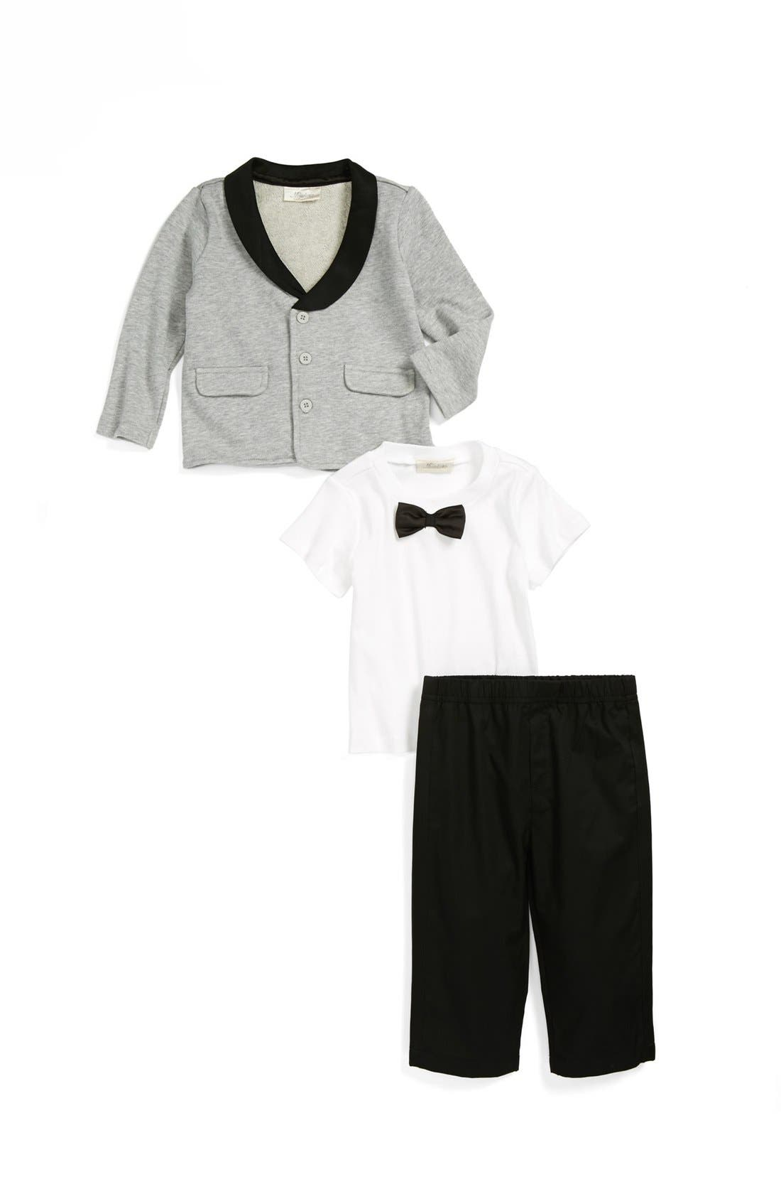 Main Image - Miniclasix Jacket, T-Shirt & Pants (Baby Boys)