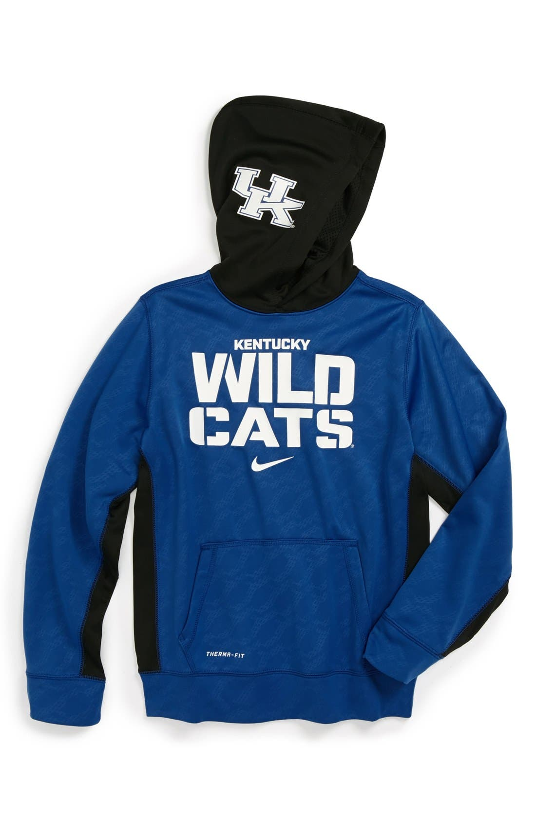 Main Image - Nike 'Kentucky Wildcats' Therma-FIT Pullover Hoodie (Big Boys)