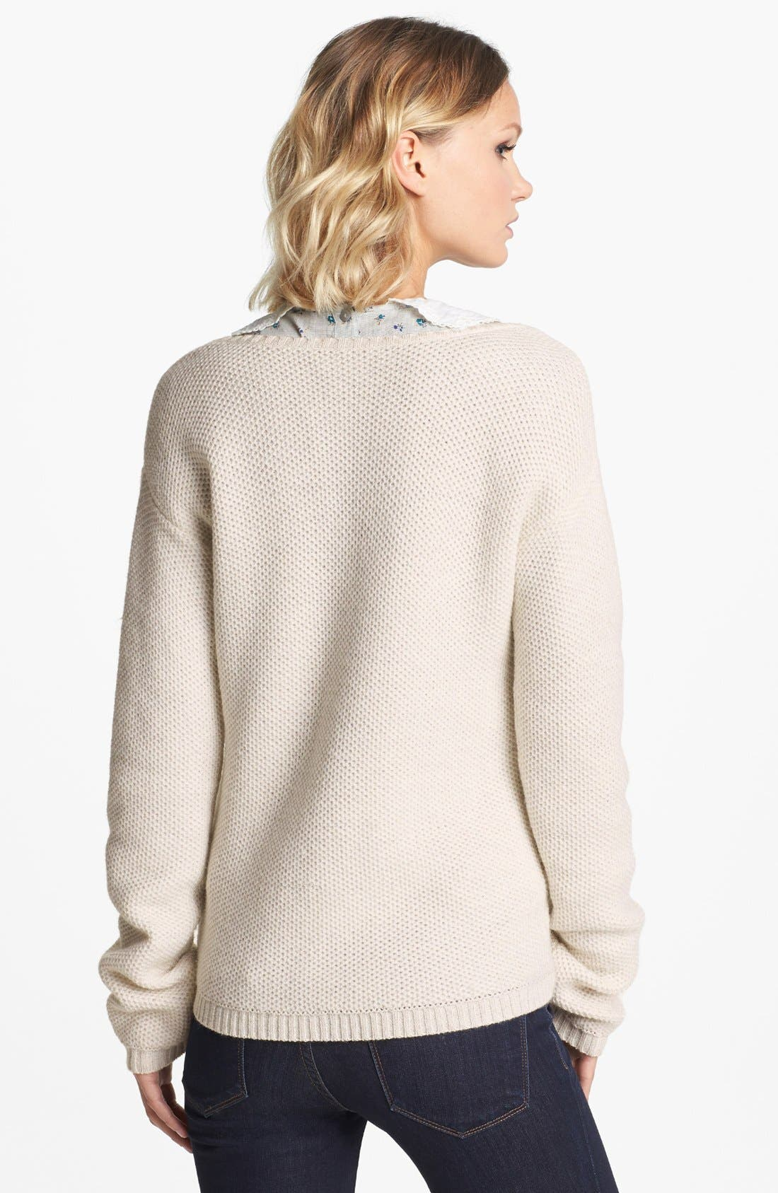 Alternate Image 2  - Hinge® Mixed Cable Knit Sweater