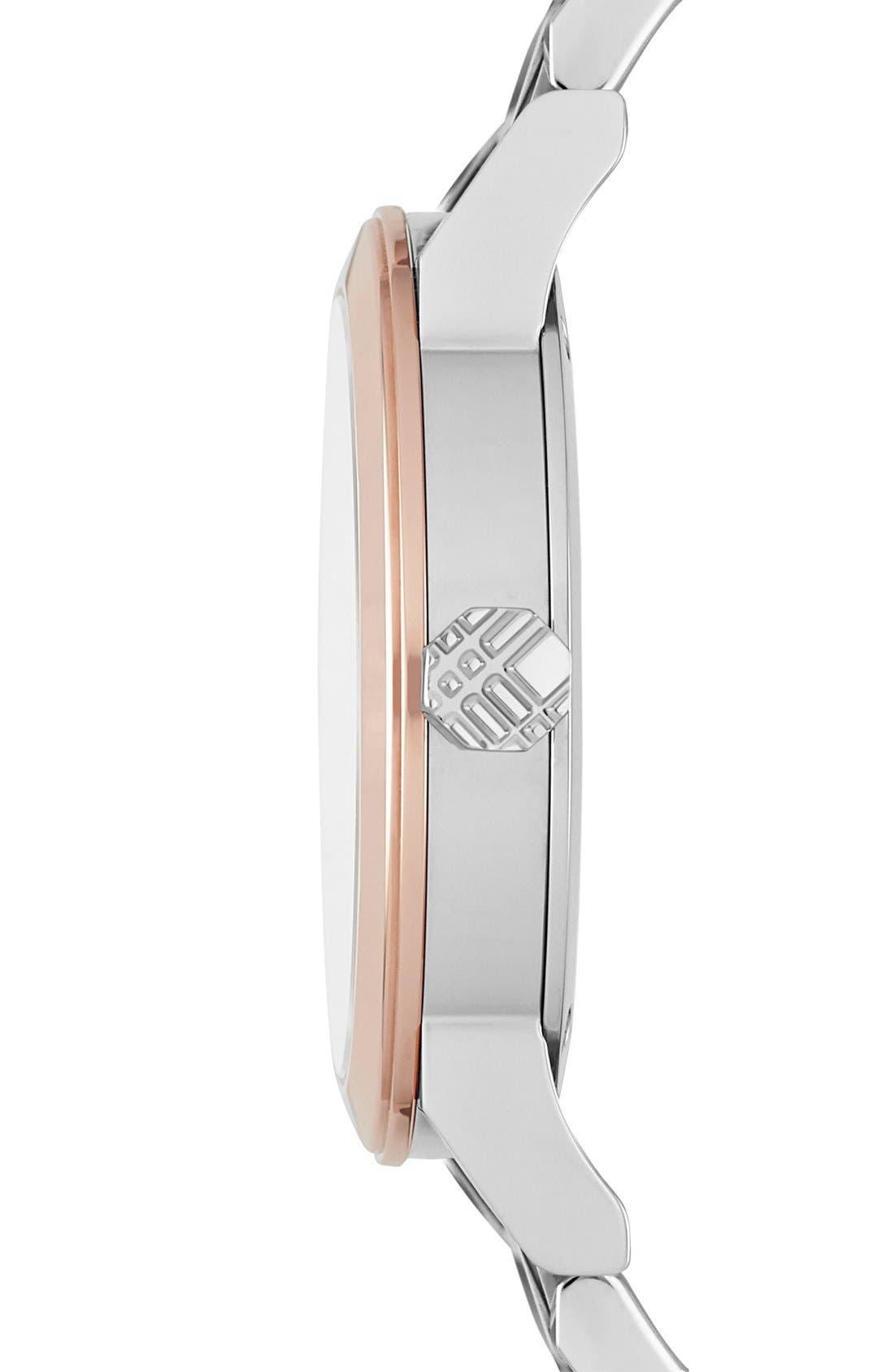 Alternate Image 3  - Burberry Medium Check Stamped Bracelet Watch, 34mm