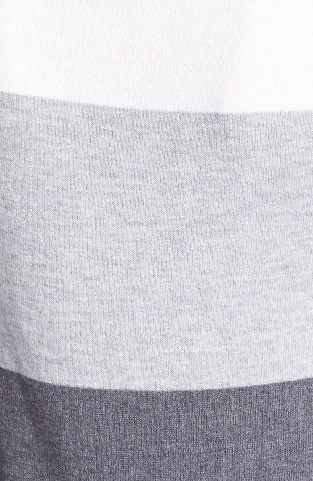 Alternate Image 3  - Vince Camuto Colorblock Stripe Sweater