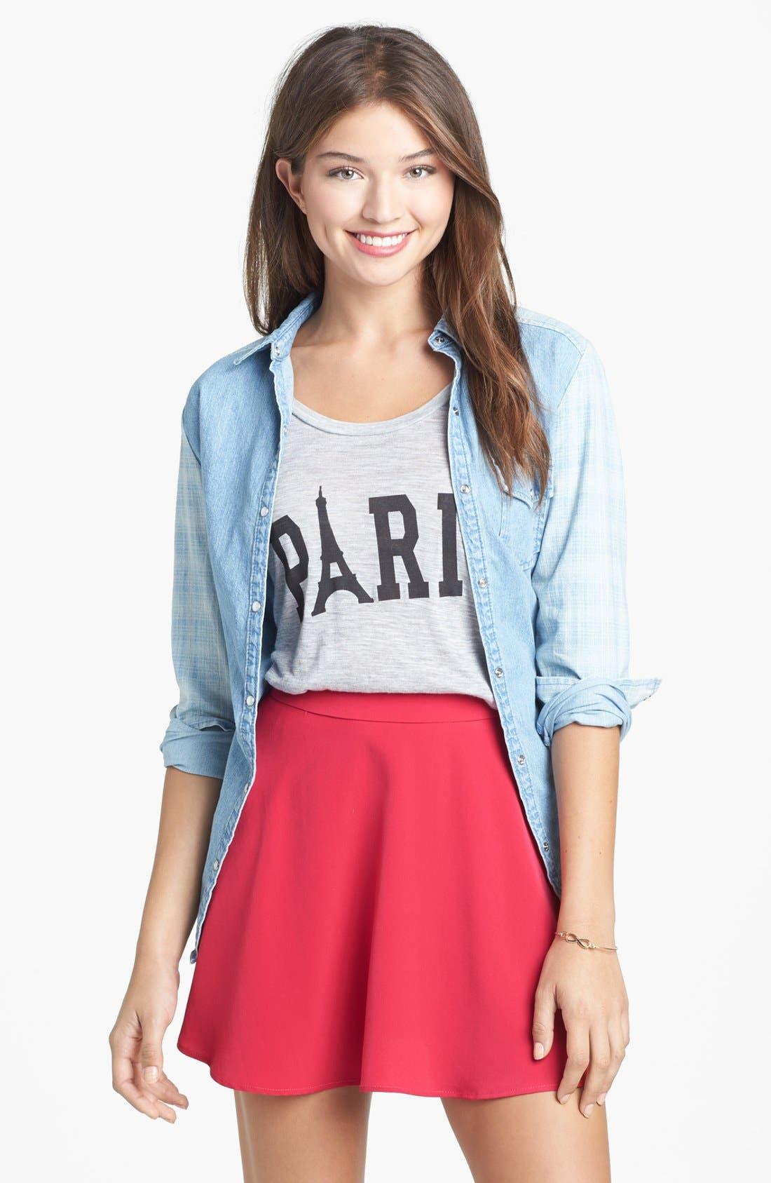 Alternate Image 1 Selected - Lush Skater Skirt (Juniors) (Online Only)