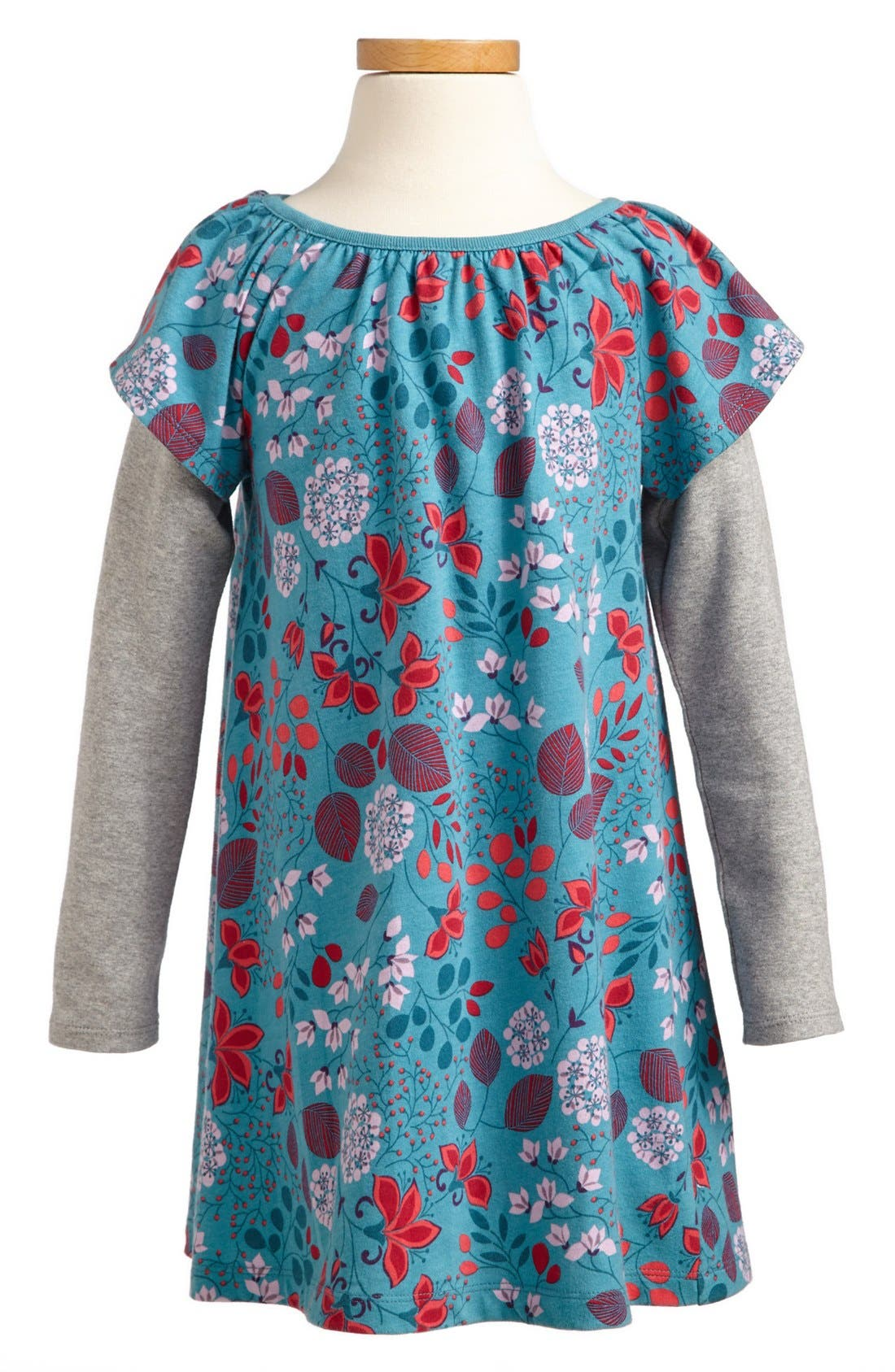 Alternate Image 1 Selected - Tea Collection 'Botanical' Layer Dress (Toddler Girls, Little Girls & Big Girls)