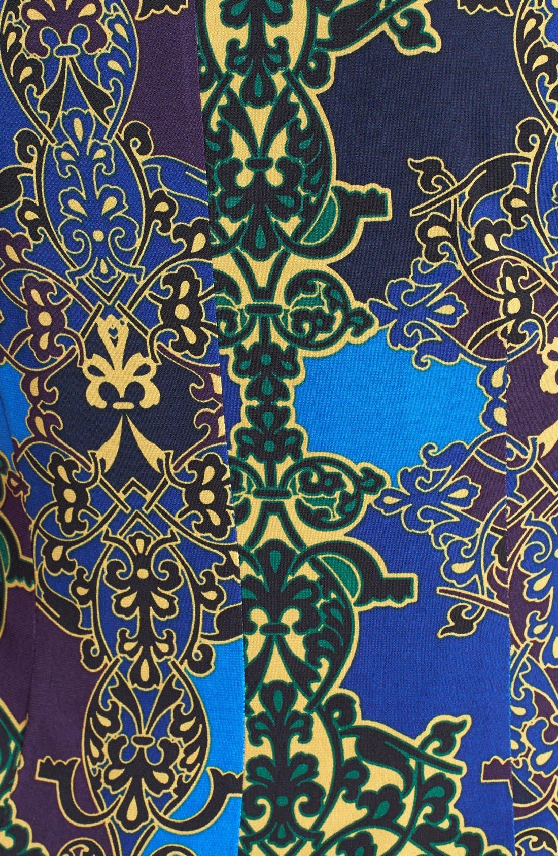 Alternate Image 3  - Ellen Tracy Print Side Twist Dress