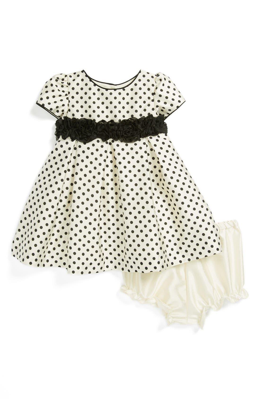 Main Image - Pippa & Julie Dress & Bloomers (Baby Girls)