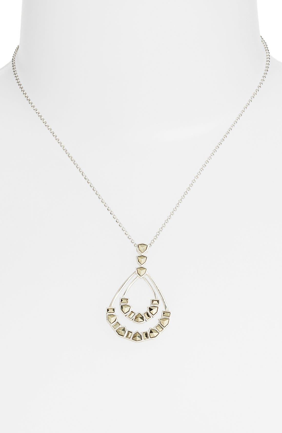 Alternate Image 1 Selected - Judith Jack 'Purple Moon' Pendant Necklace