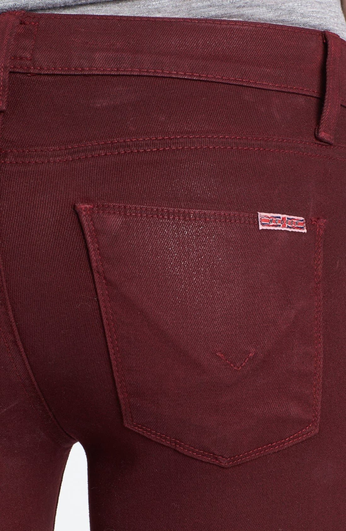 Alternate Image 3  - Hudson Jeans 'Krista' Super Skinny Jeans (Crimson Wax)
