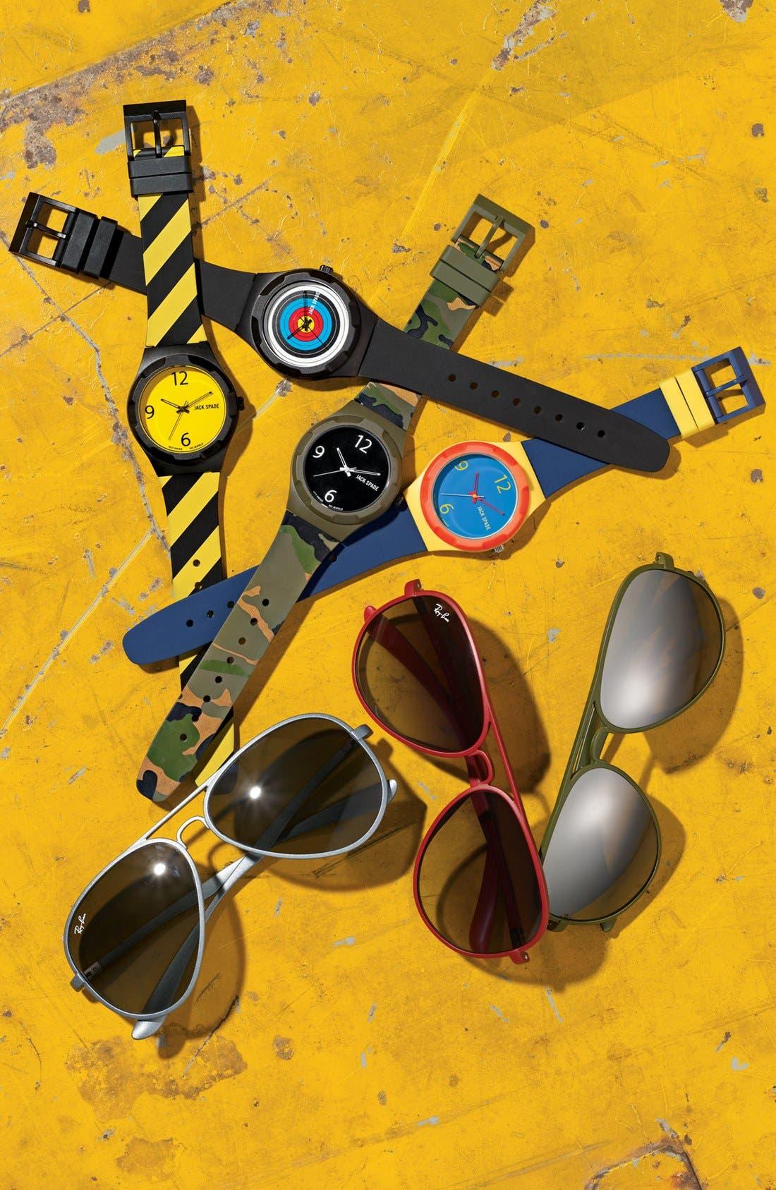 Alternate Image 5  - Jack Spade 'Graphic' Colorblock Watch, 38mm
