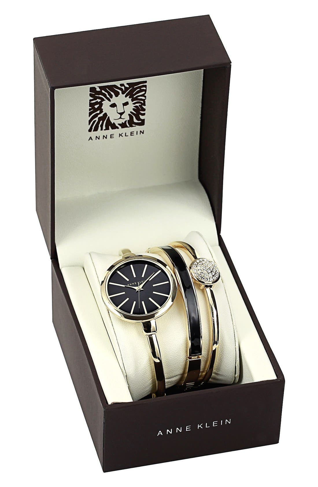 Alternate Image 2  - Anne Klein Boxed Bracelet & Bangle Watch Set, 32mm ($165 Value)