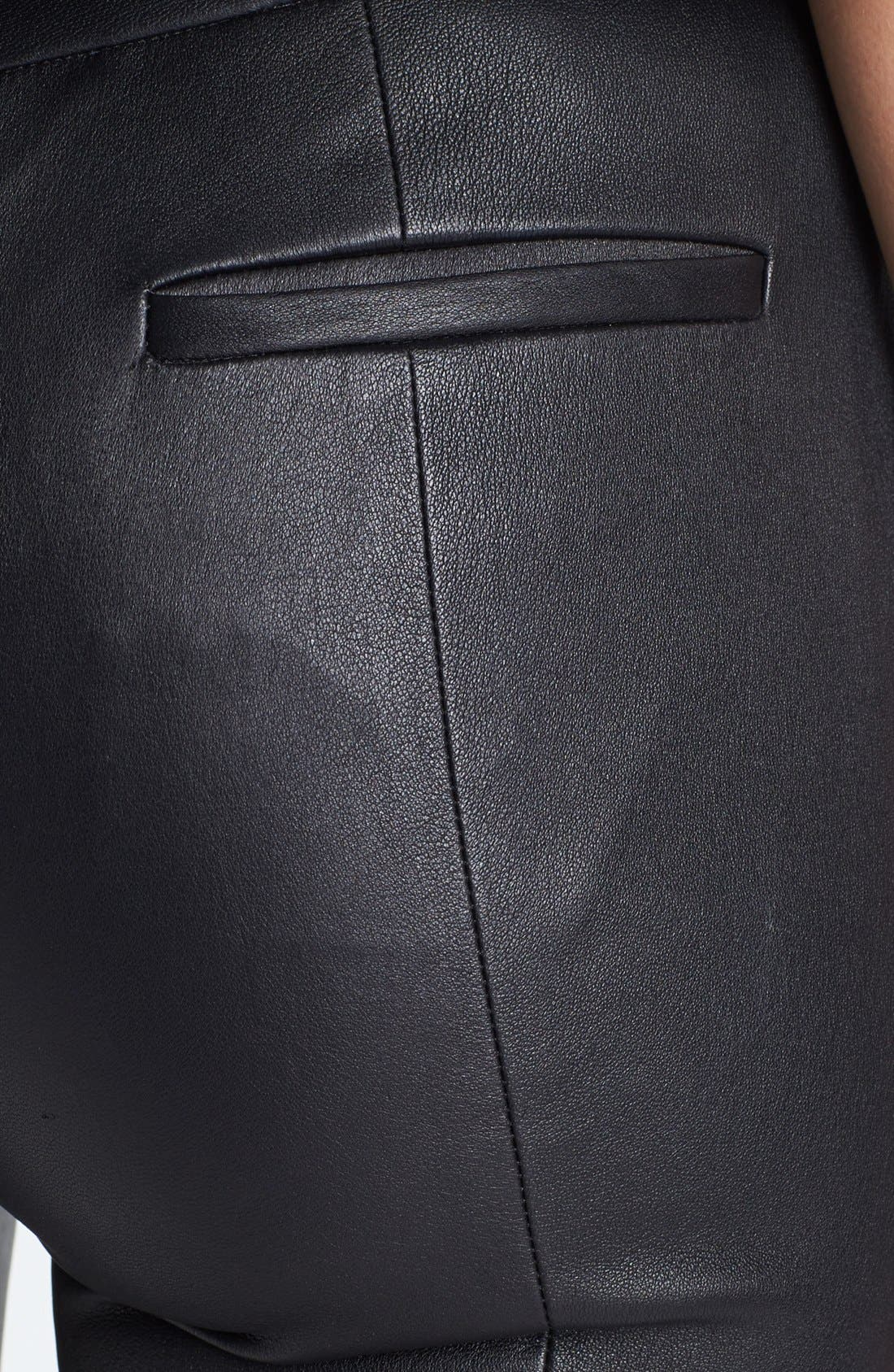 Alternate Image 3  - Diane von Furstenberg 'Dorthia' Mikado & Leather Pants