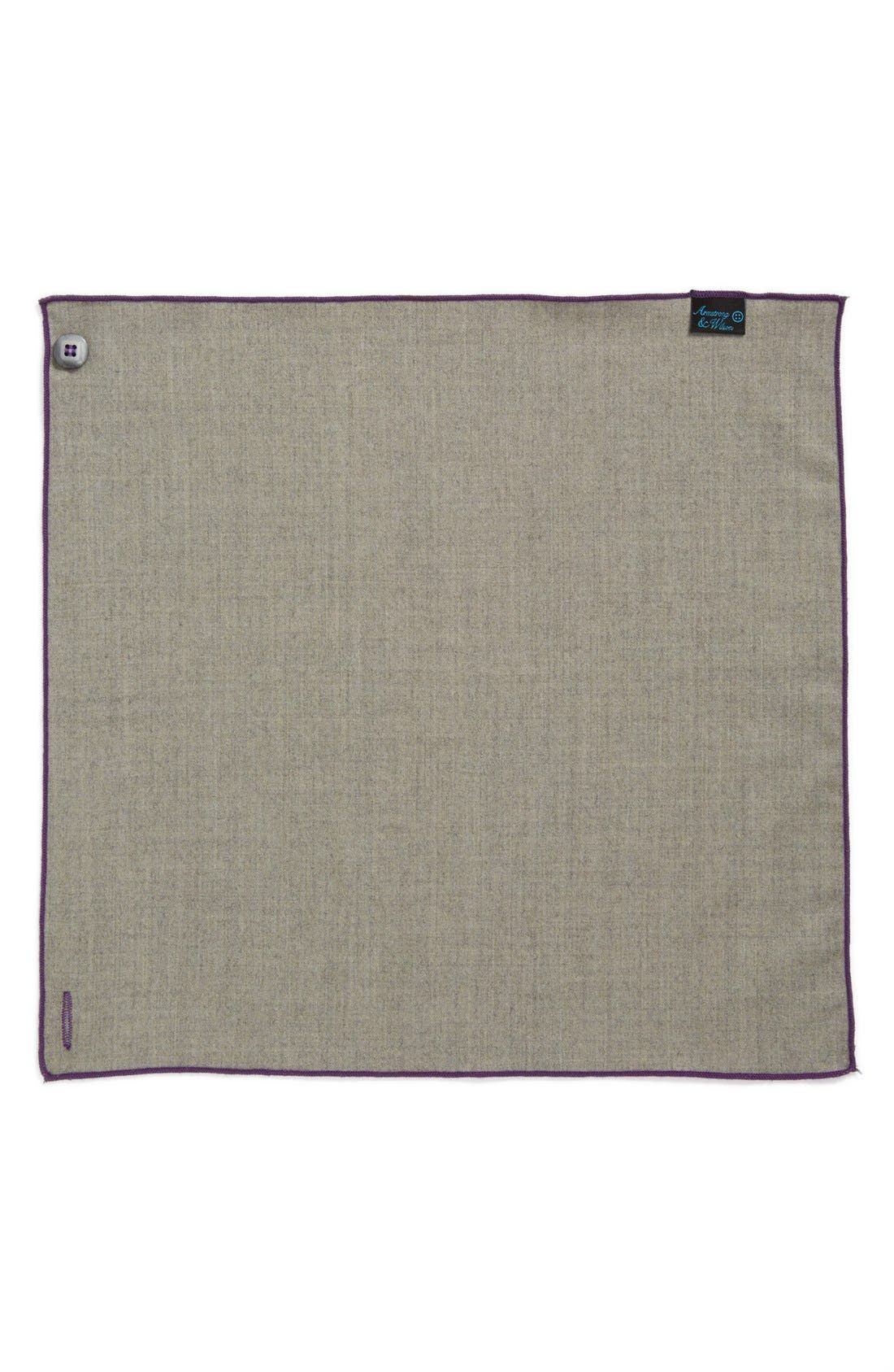 Alternate Image 2  - Armstrong & Wilson Wool & Cashmere Pocket Square