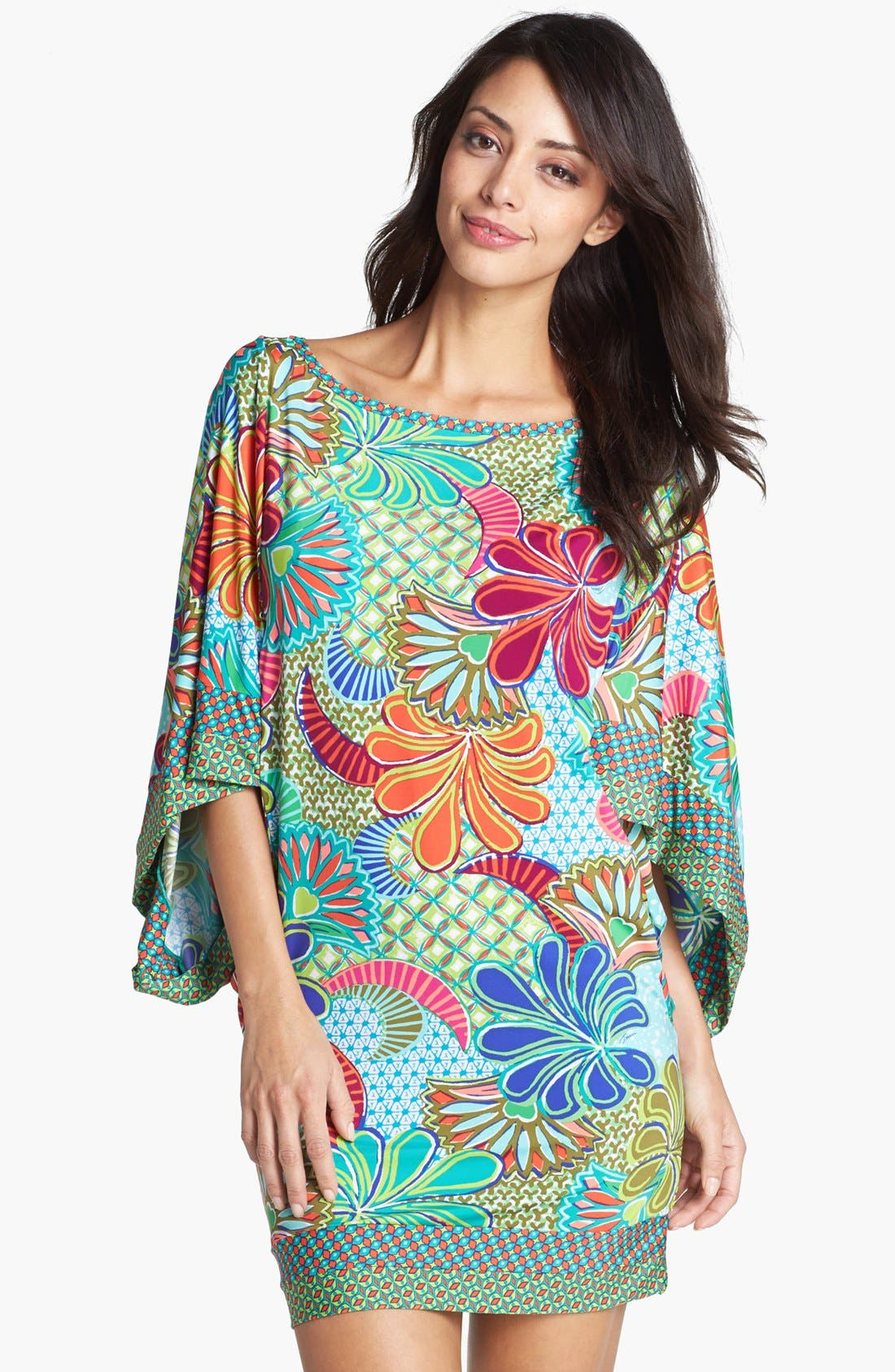 Alternate Image 1 Selected - Trina Turk 'Zanzibar' Tunic Cover-Up