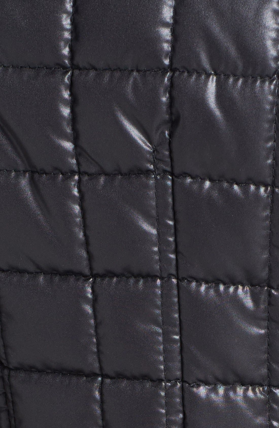 Alternate Image 2  - Via Spiga Asymmetrical Belted Quilted Coat (Online Only)