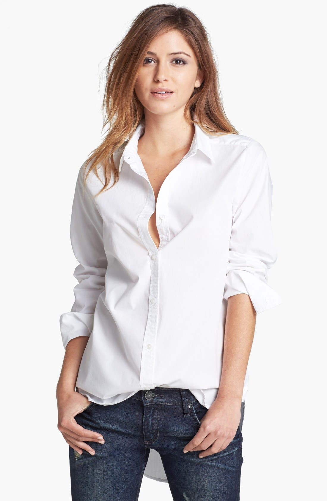 Alternate Image 1 Selected - Tildon 'Clean' Oversized Button-Up Shirt