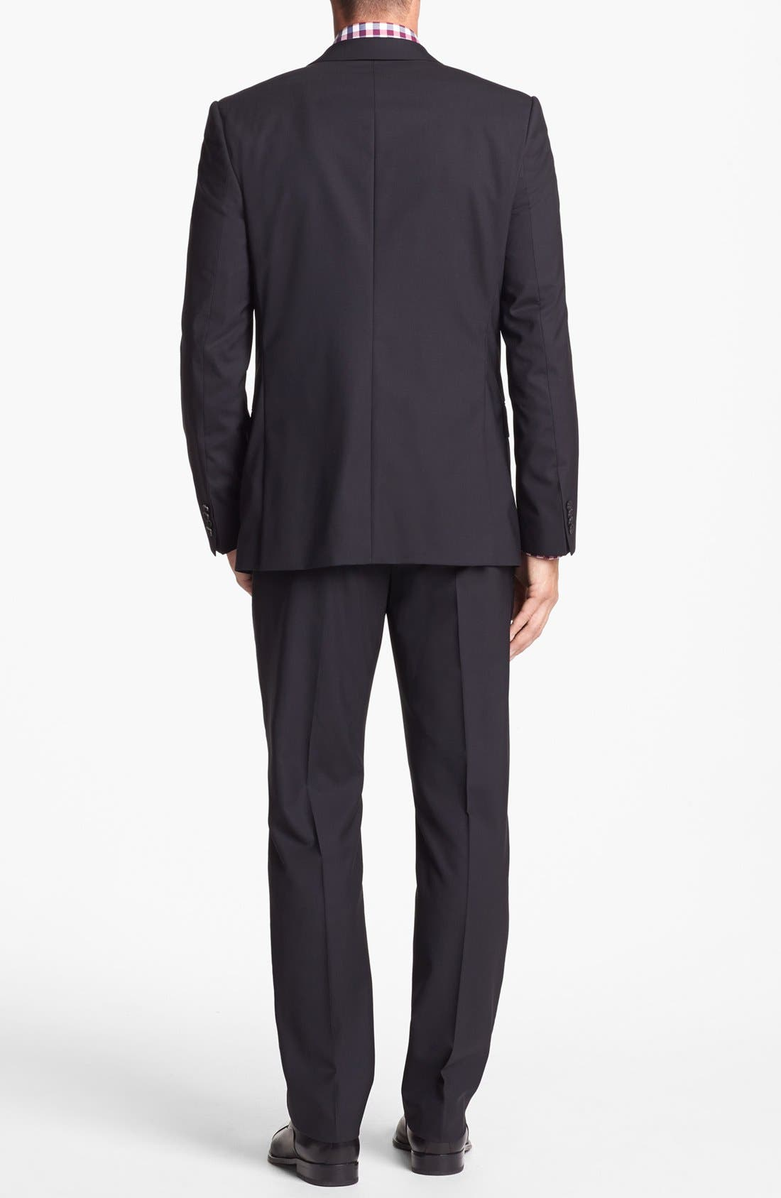 Alternate Image 2  - HUGO 'Amaro/Heise' Trim Fit Stretch Suit