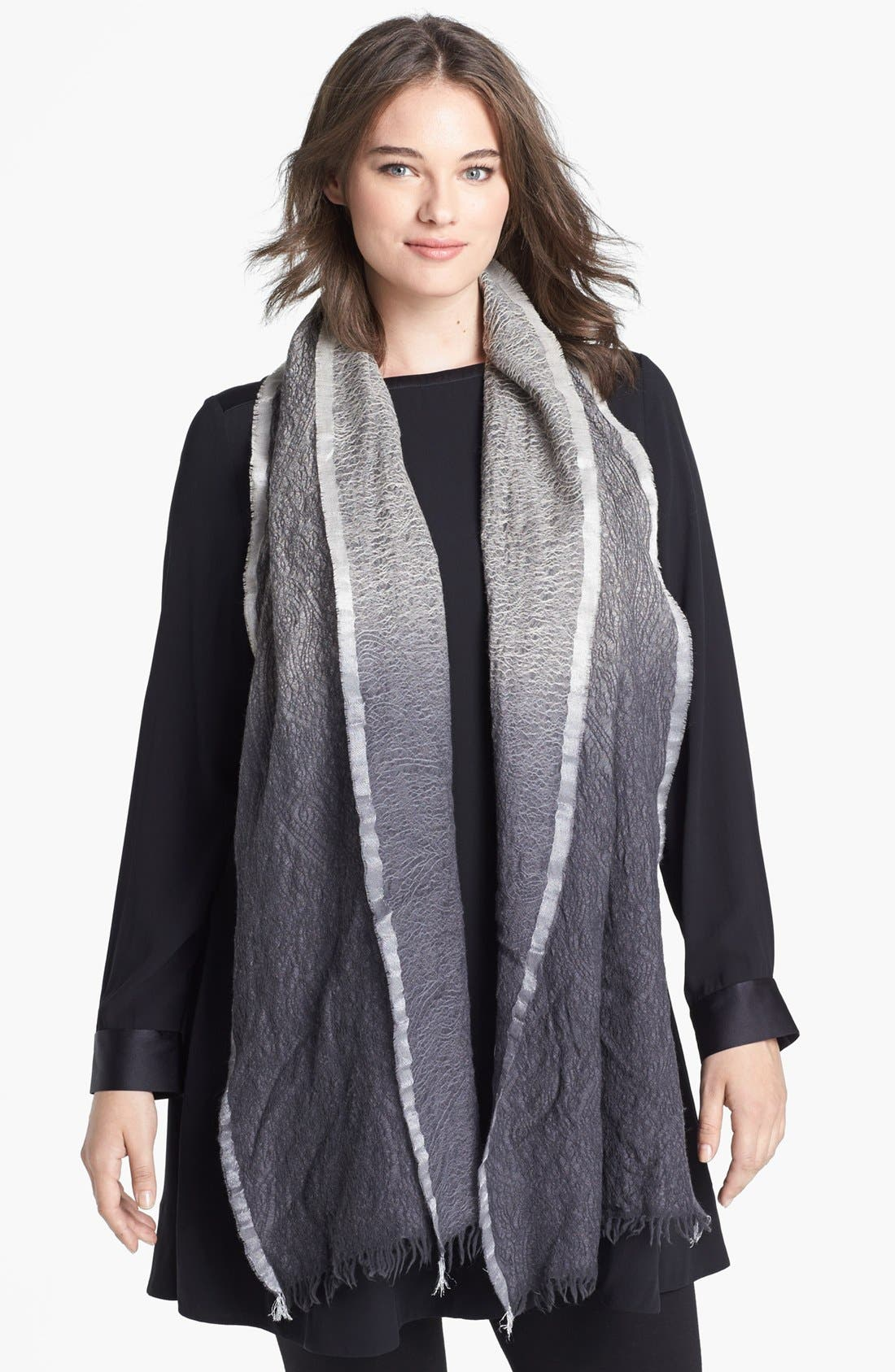 Alternate Image 1 Selected - Eileen Fisher Jacquard Scarf