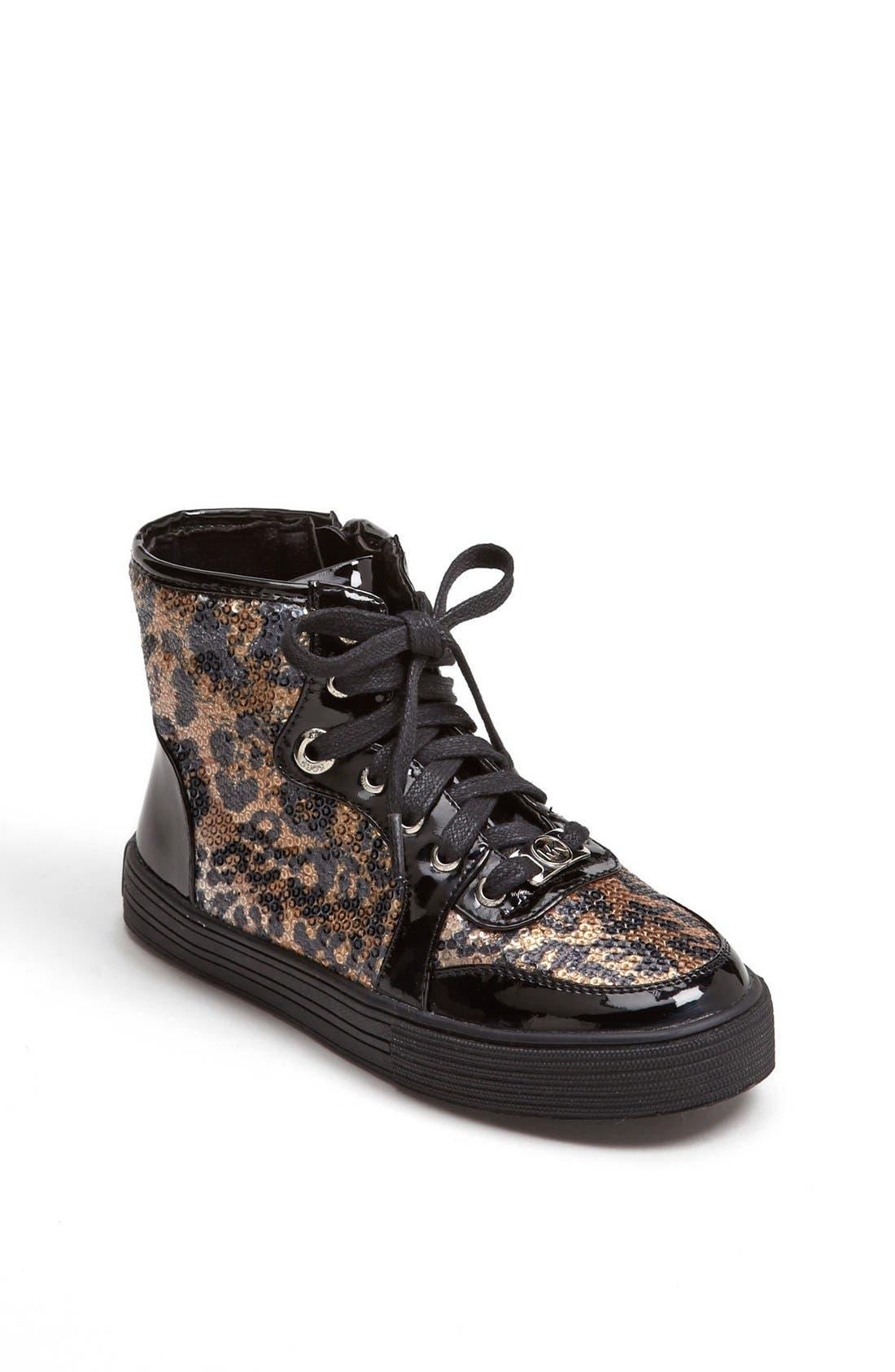 Alternate Image 1 Selected - MICHAEL Michael Kors 'Ivy' High Top Sneaker (Walker, Toddler, Little Kid & Big Kid)