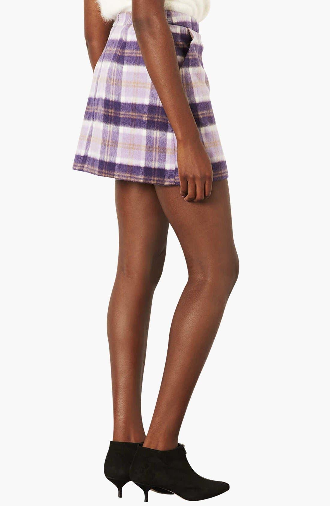 Alternate Image 2  - Topshop Checkered A-Line Skirt