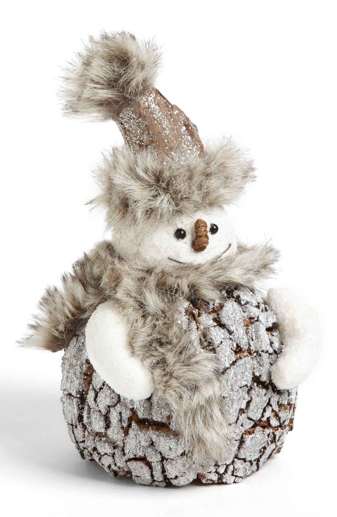 Alternate Image 1 Selected - Shea's Wildflower Snowman Decoration, Medium