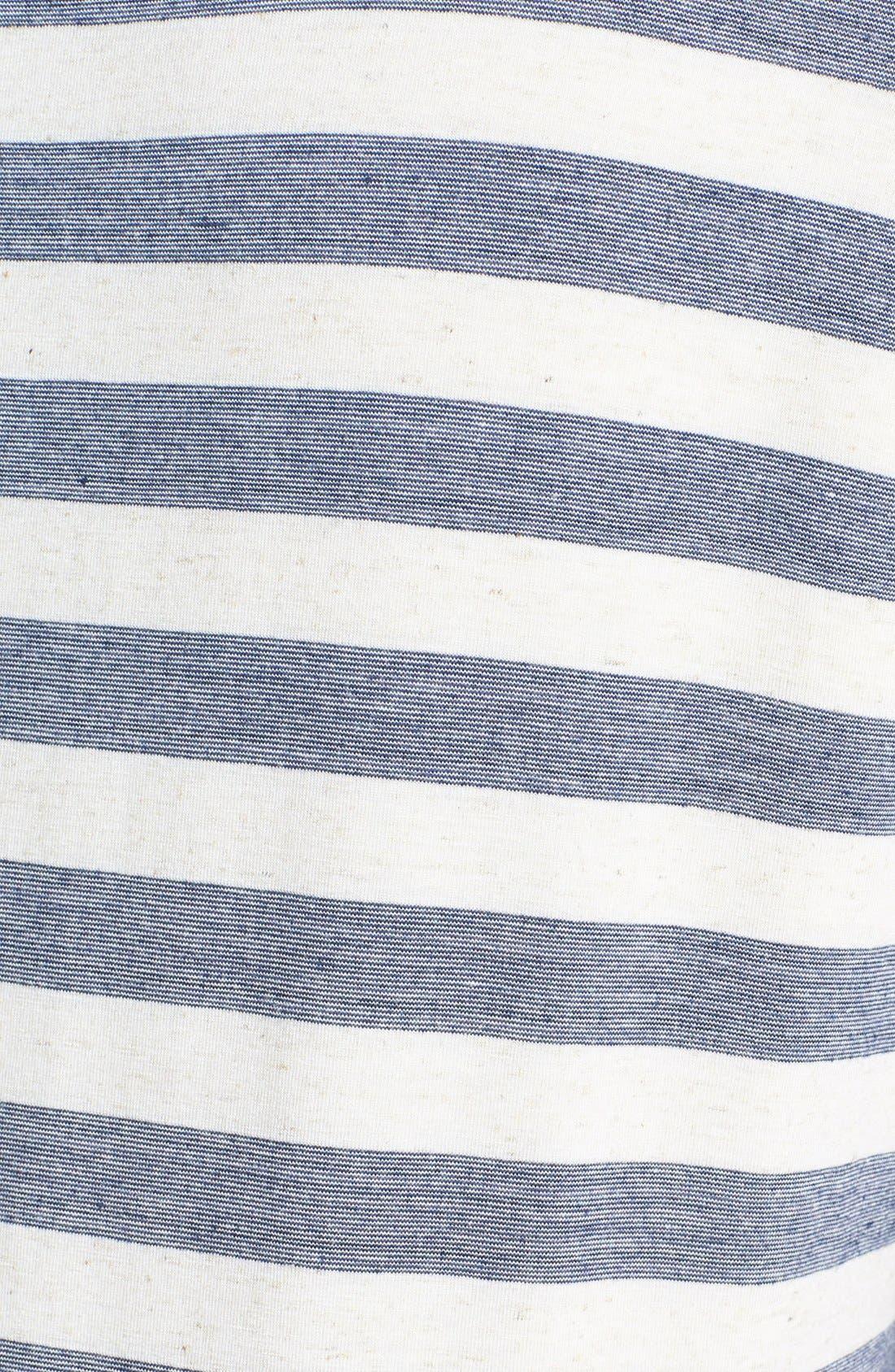 Alternate Image 3  - Lucky Brand 'Dallas' Stripe Top (Plus Size)