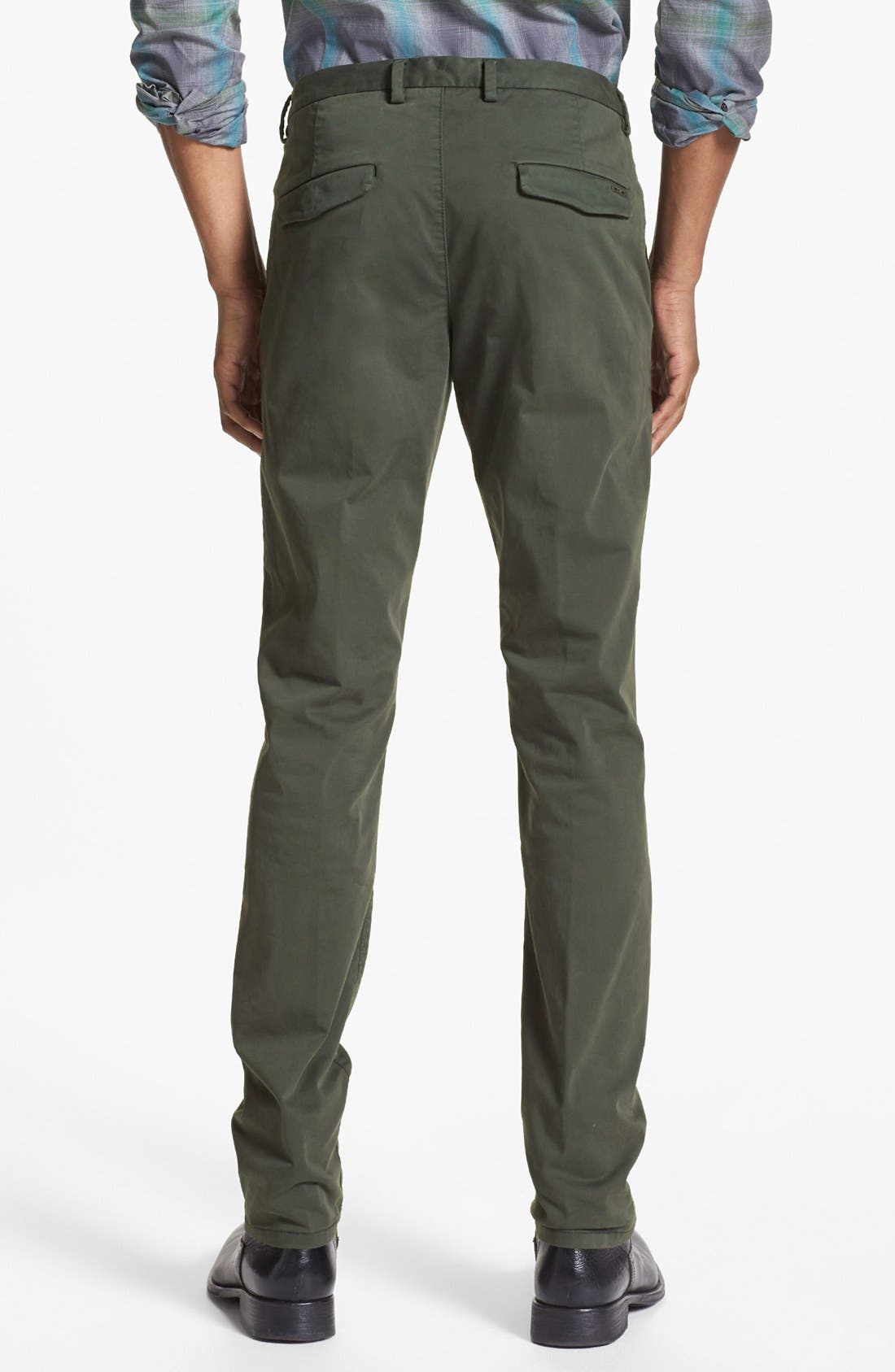Alternate Image 2  - HUGO 'Helgo-D' Flat Front Chinos