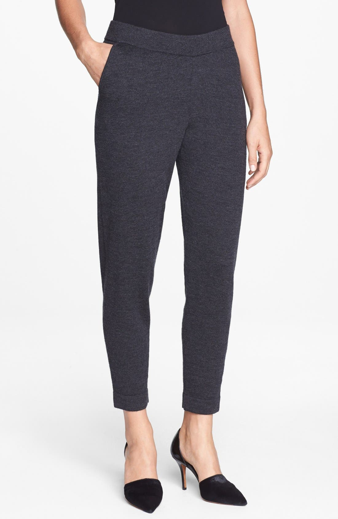 Alternate Image 1 Selected - Eileen Fisher Slouchy Wool Ankle Pants