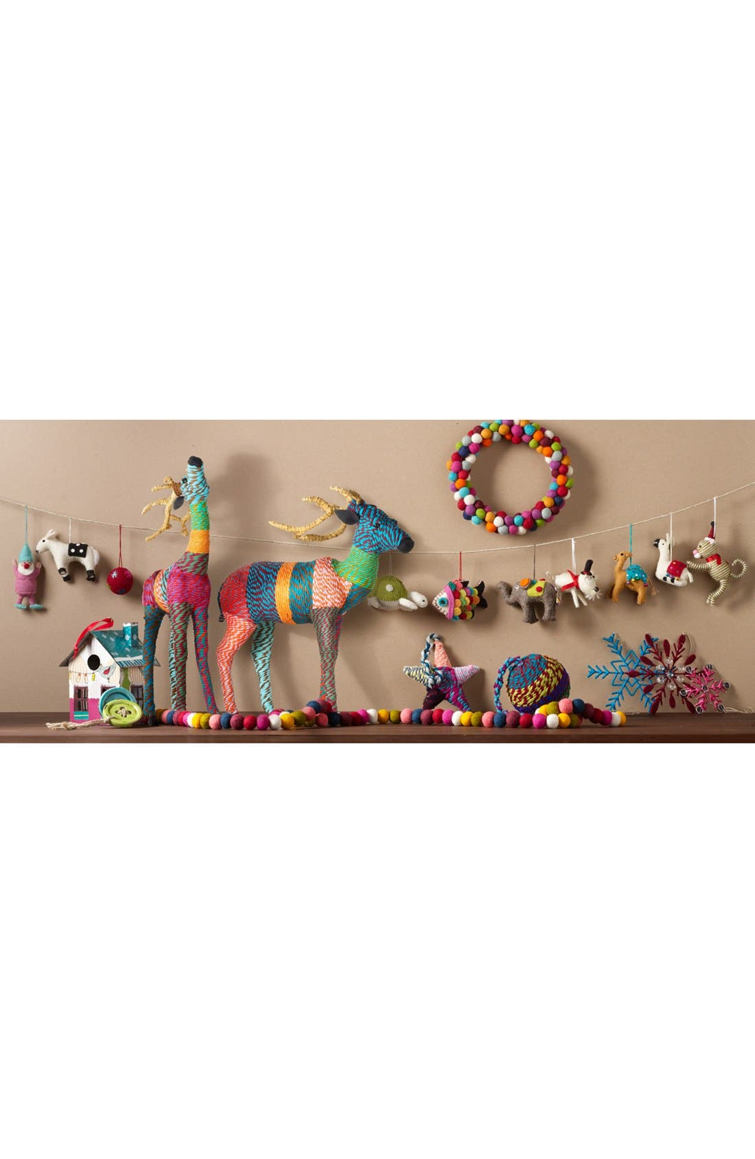 Alternate Image 3  - Shiraleah Chindi Reindeer Decoration, Small