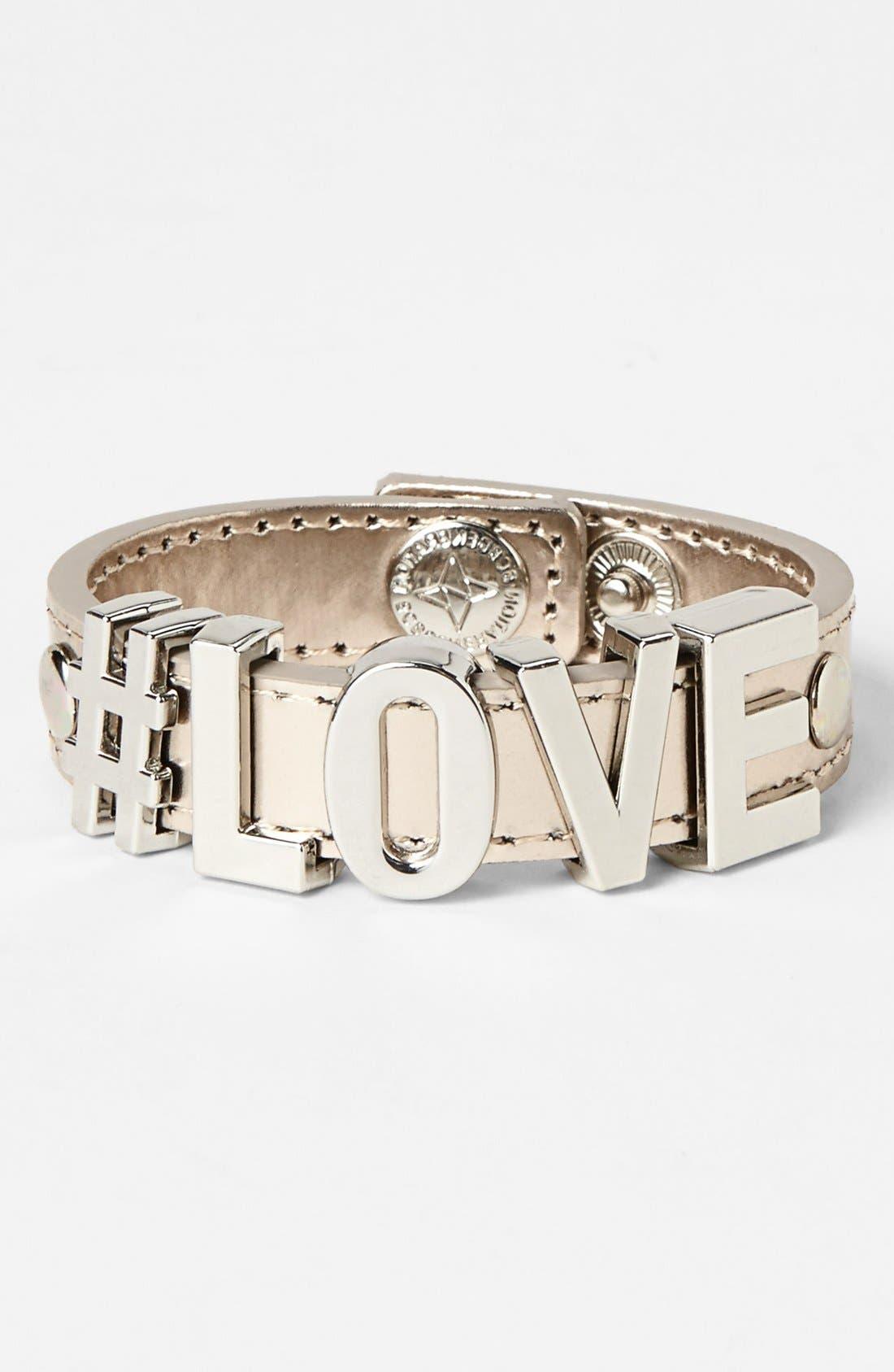 Alternate Image 1 Selected - BCBGeneration 'Hashtag Love' Bracelet