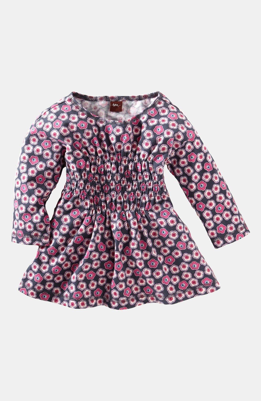 Main Image - Tea Collection 'Cherry Blossom' Smocked Tunic (Little Girls & Big Girls)