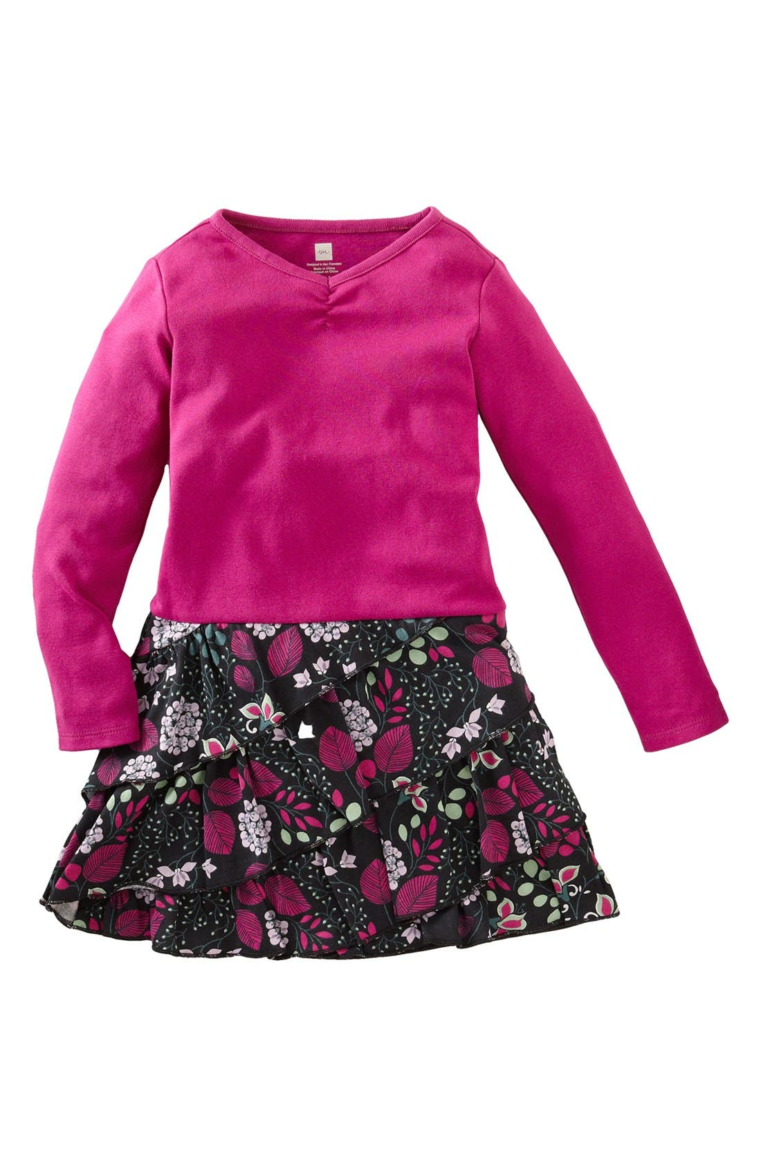 Alternate Image 1 Selected - Tea Collection 'Botanical' Ruffle Dress (Baby Girls)