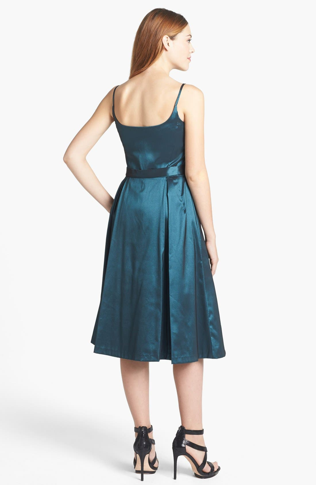 Alternate Image 2  - Maggy London Taffeta Fit & Flare Dress