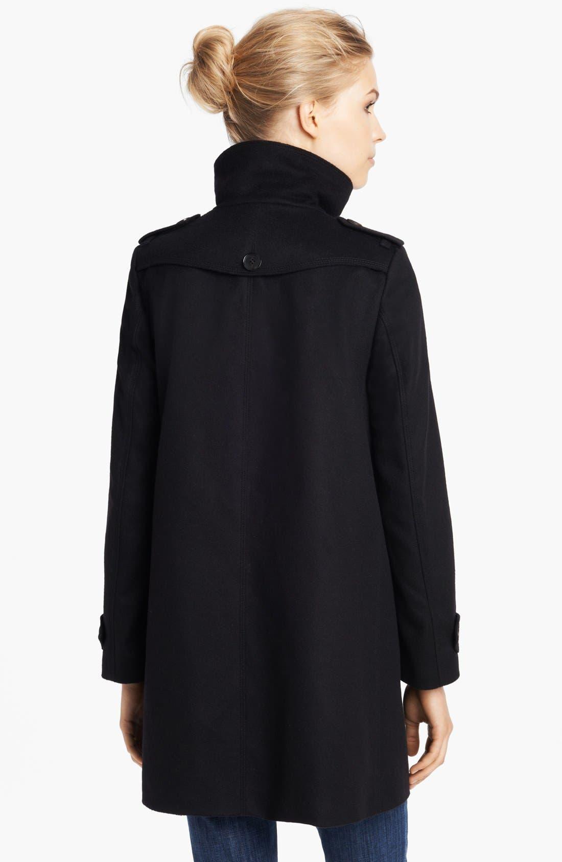 Alternate Image 2  - Burberry London Wool & Cashmere Caban Coat