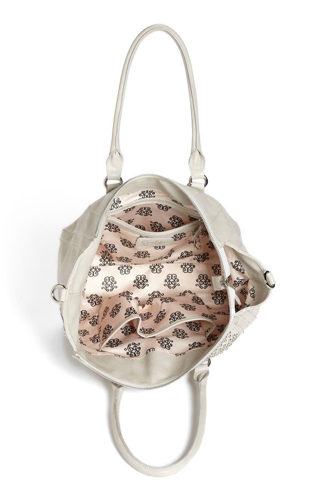Alternate Image 3  - Jessica Simpson 'Madison' Pebble Studded Faux Leather Satchel