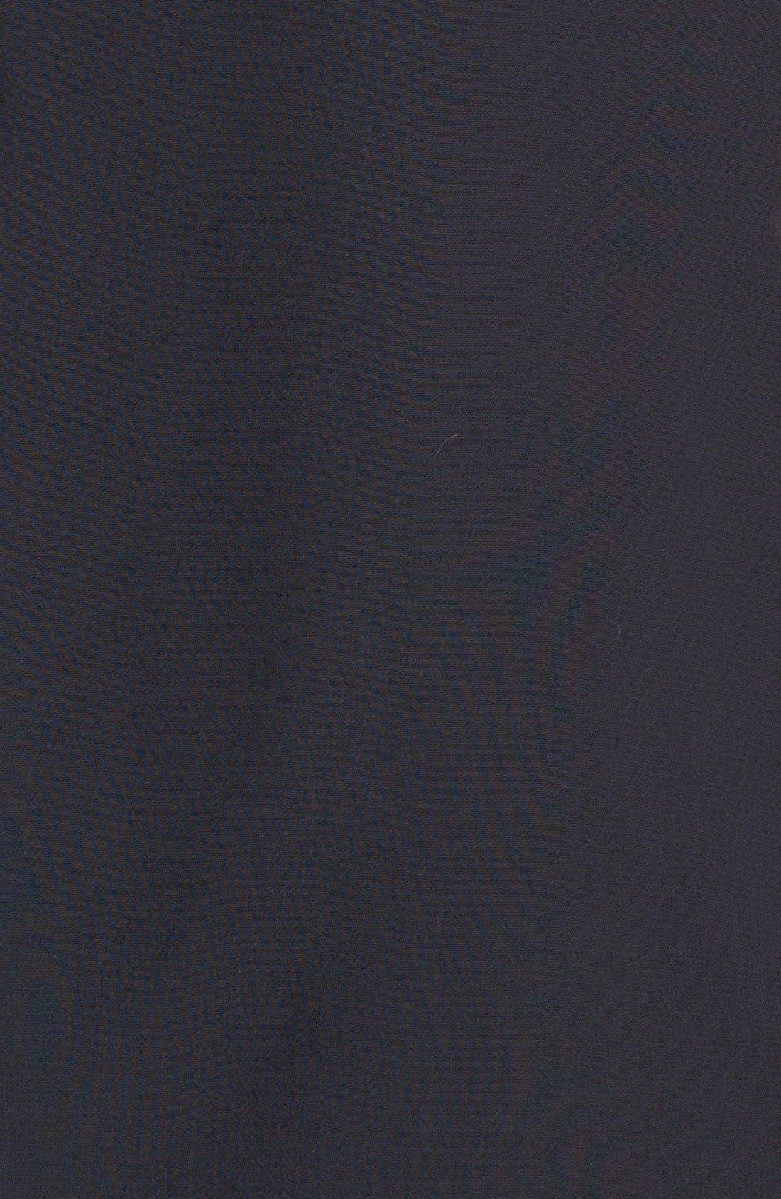 Alternate Image 3  - Xscape Embellished Keyhole Mixed Media Blouson Dress (Plus Size)