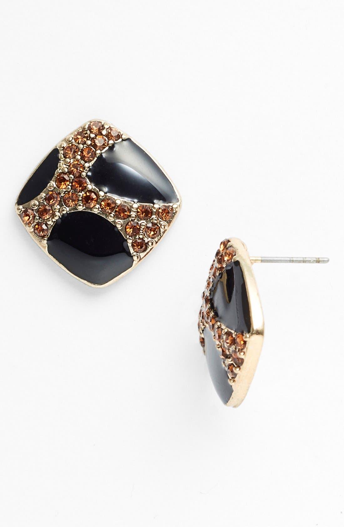 Main Image - Carbon Copy Enamel Stud Earrings
