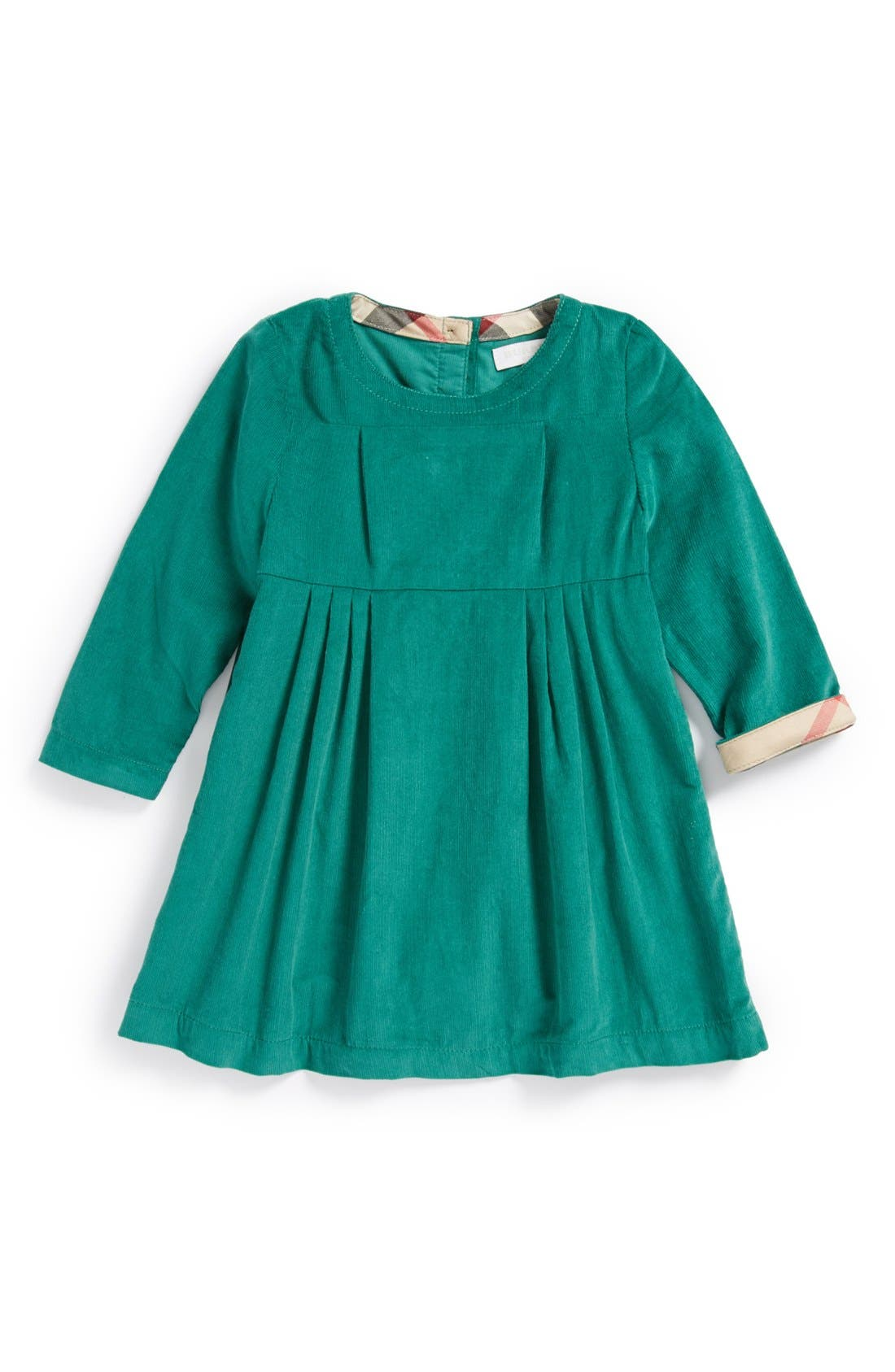 Main Image - Burberry 'Rebecca' Corduroy Dress (Baby Girls)