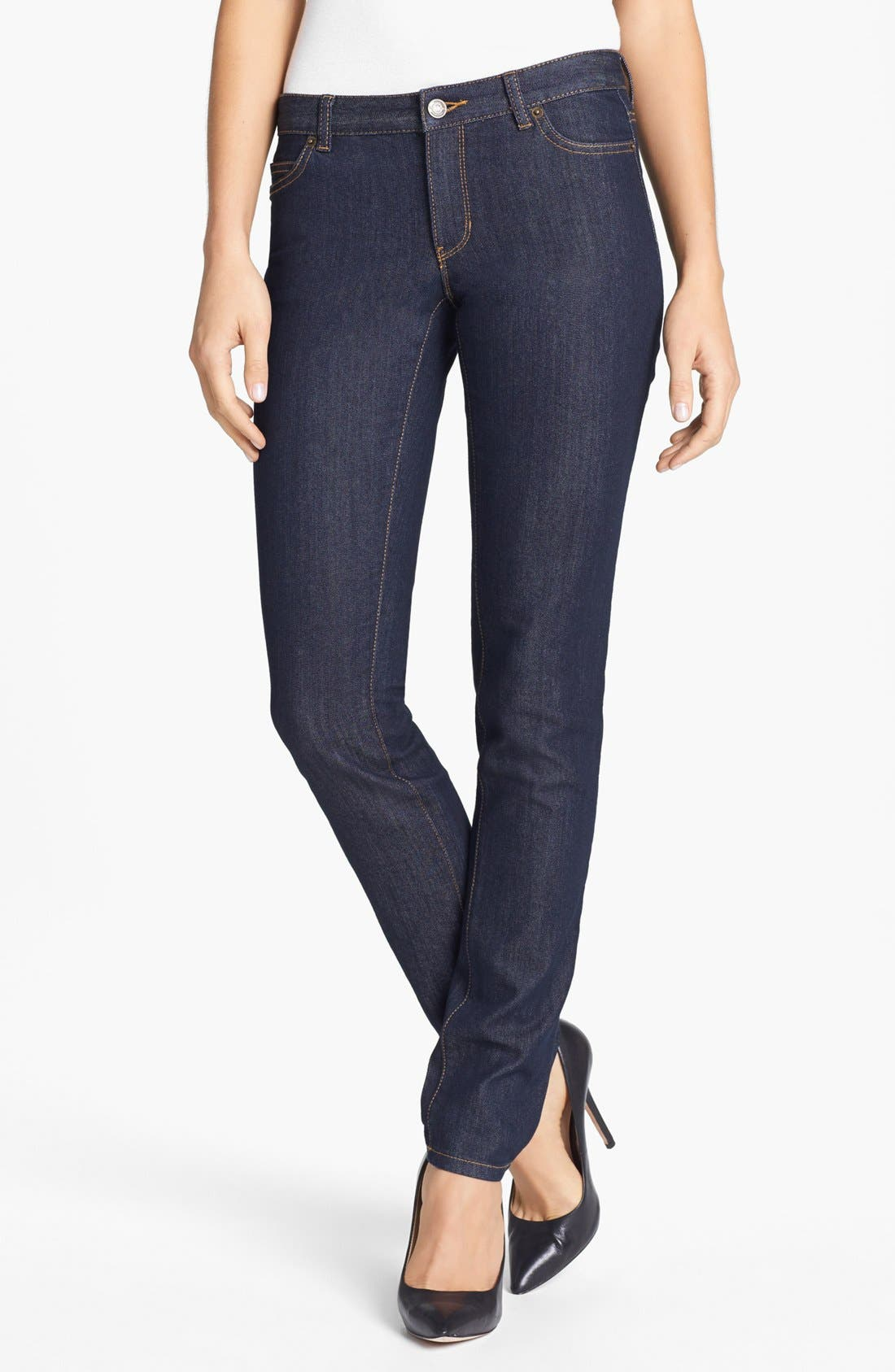 Main Image - MICHAEL Michael Kors 'Sausalito' Skinny Jeans (Premiere Indigo)