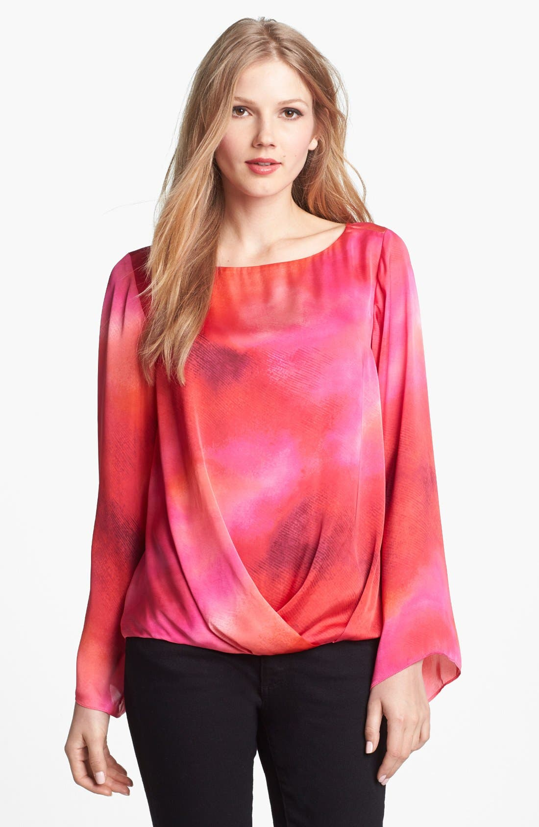 Main Image - Vince Camuto Dappled High/Low Blouse