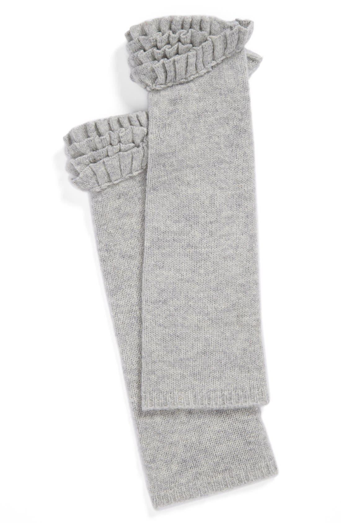 Main Image - Lauren Ralph Lauren 'Victorian Ruffle' Knit Arm Warmers